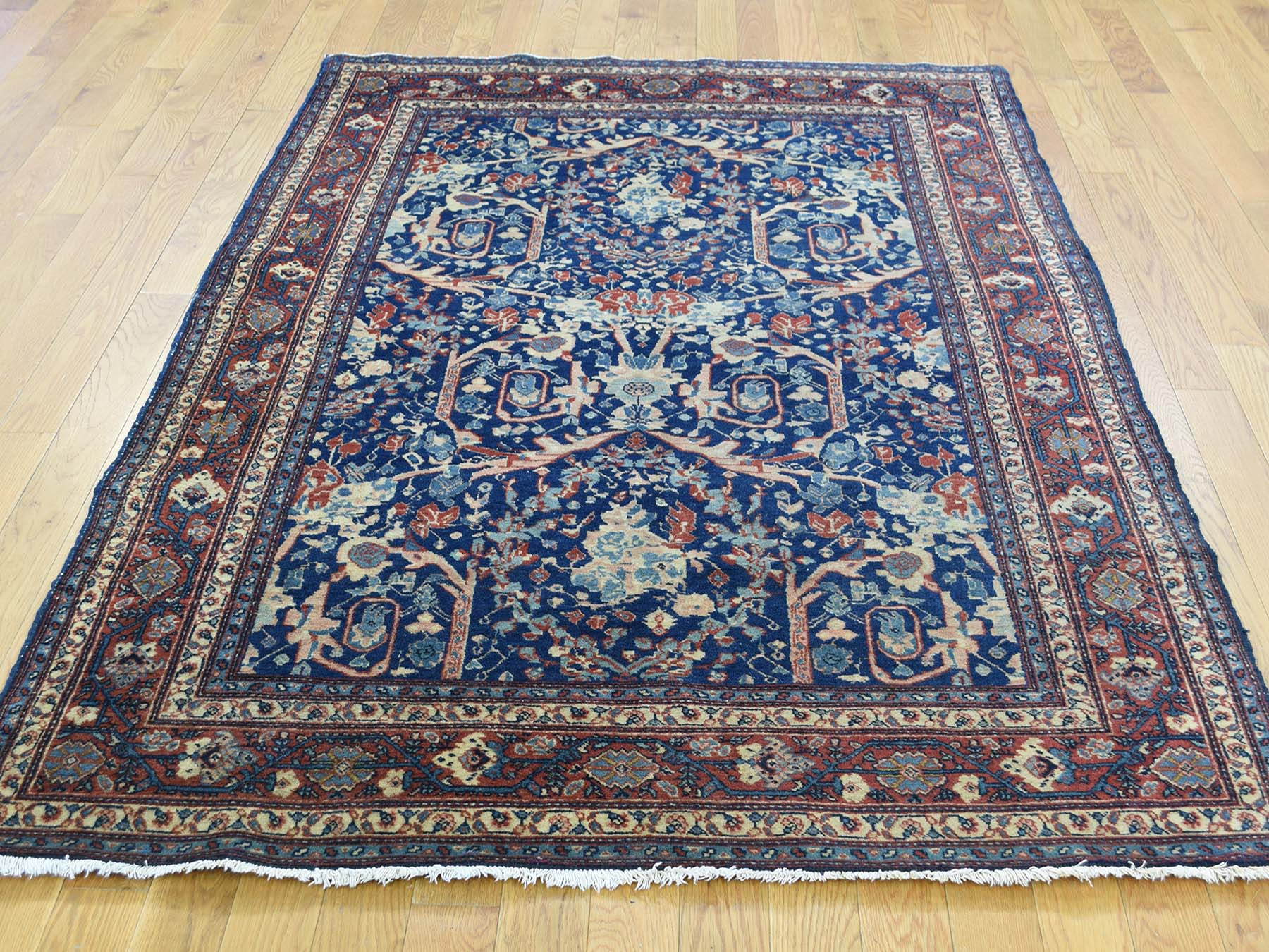 4 6 Quot X6 3 Quot Hand Knotted Antique Persian Tabriz Navy Blue